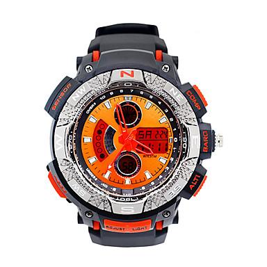 남성 스포츠 시계 밀리터리 시계 패션 시계 디지털 LED 달력 크로노그래프 야광의 스톱워치 야광 고무 밴드 빈티지 캐쥬얼 블랙