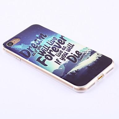 7 7 Frasi Plus per iPhone famose iPhone iPhone Custodia retro Per 7 Plus Apple Per 7 7 iPhone Plus iPhone 7 TPU 05295904 IMD iPhone Morbido f1n8fwZq
