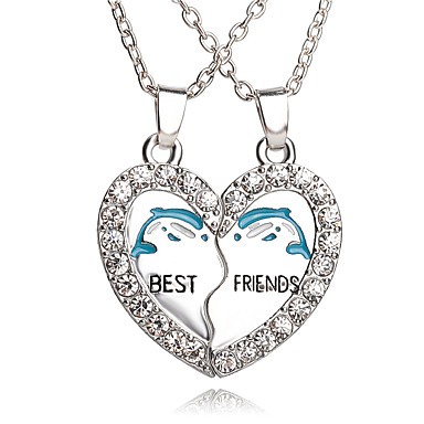 cheap Necklaces-Men's Women's Pendant Necklace Pendant Necklace Friends life Tree Crescent Moon Best Friends Friendship Personalized Bohemian European Rock Alloy Silver Necklace Jewelry For Wedding Daily Casual