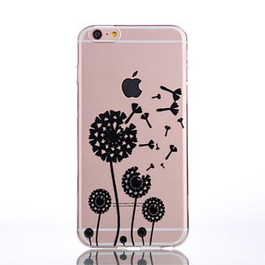 Mert iPhone 7 tok / iPhone 7 Plus tok / iPhone 6 tok Átlátszó / Dombornyomott / Minta Case Hátlap Case Pitypang Puha TPU AppleiPhone 7