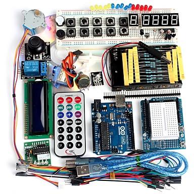 funduino gelişmiş starter kit lcd servo motor nokta vuruşlu breadboard arduino uyumlu temel unsuru paketi açtı
