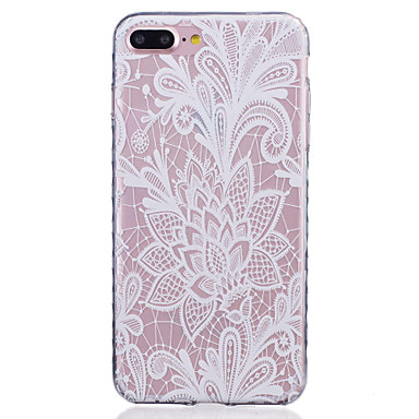 Mert iPhone 7 tok / iPhone 7 Plus tok / iPhone 6 tok Minta Case Hátlap Case Virág Puha TPU AppleiPhone 7 Plus / iPhone 7 / iPhone 6s
