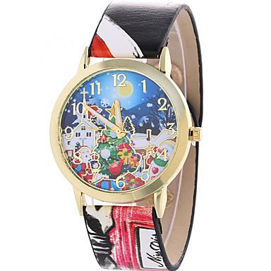 아가씨들 패션 시계 손목 시계 캐쥬얼 시계 / 석영 가죽 밴드 멋진 캐쥬얼 블랙 화이트 블루 그레이 핑크