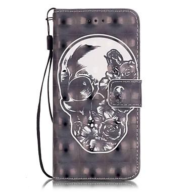Mert iPhone 7 tok / iPhone 7 Plus tok / iPhone 6 tok Kártyatartó / Minta Case Teljes védelem Case Koponya Kemény Műbőr AppleiPhone 7 Plus