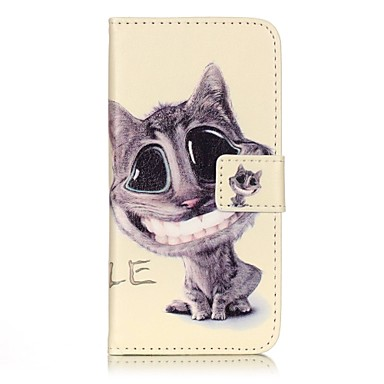 Mert iPhone 7 tok / iPhone 7 Plus tok Pénztárca / Flip Case Teljes védelem Case Cica Kemény Műbőr Apple iPhone 7 Plus / iPhone 7