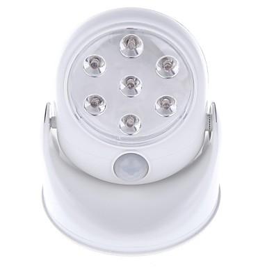 1pc 400lm Faretti LED 7 Perline LED Illuminazione LED integrata Con sensore Luce fredda