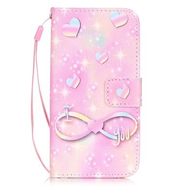 Mert iPhone 7 tok / iPhone 7 Plus tok / iPhone 6 tok Kártyatartó / Minta Case Teljes védelem Case Szív Kemény Műbőr AppleiPhone 7 Plus /