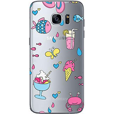 Kılıf Na Samsung Galaxy Samsung Galaxy S7 Edge Przezroczyste Other Czarne etui Owoc Miękkie TPU na S7 edge S7 S6 edge plus S6 edge S6
