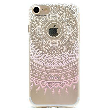 Mert iPhone 7 tok / iPhone 6 tok / iPhone 5 tok Minta Case Hátlap Case Csipke dizájn Puha TPU AppleiPhone 7 Plus / iPhone 7 / iPhone 6s
