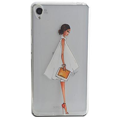 Mert Sony tok / Xperia XA Minta Case Hátlap Case Szexi lány Puha TPU mert Sony Sony Xperia XA / Sony Xperia E5