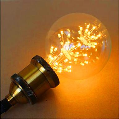 E26/E27 LED gömbbúrás izzók G95 49 led Dip LED Dekoratív Sárga 800lm 2300K AC 220-240V