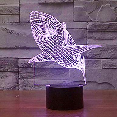 KWB 1 db 3D éjszakai fény Érzékelő / Tompítható 5 V
