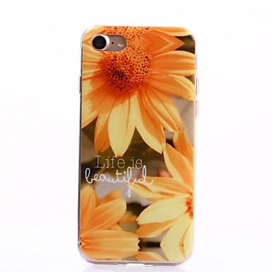 용 아이폰7케이스 / 아이폰7플러스 케이스 IMD 케이스 뒷면 커버 케이스 꽃장식 소프트 TPU Apple 아이폰 7 플러스 / 아이폰 (7)