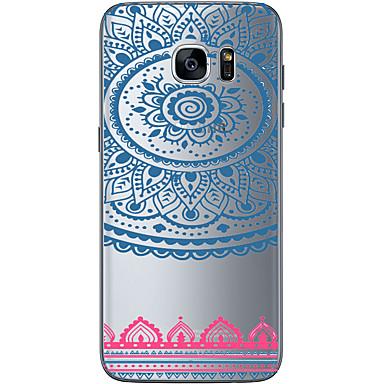 용 Samsung Galaxy S7 Edge 패턴 케이스 뒷면 커버 케이스 기하학 패턴 소프트 TPU Samsung S7 edge / S7 / S6 edge plus / S6 edge / S6