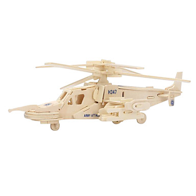 Jigsaw Puzzle 3D építőjátékok Fából készült építőjátékok Építőkockák DIY játékok Helikopter Fa
