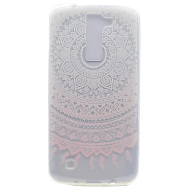 إلى شفاف نموذج غطاء غطاء خلفي غطاء زهور ناعم TPU إلى LG LG K10 LG K8 LG K7 LG Nexus 5X LG X Power