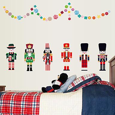 패션 크리스마스 만화 벽 스티커 플레인 월스티커 데코레이티브 월 스티커 홈 장식 벽 데칼 벽