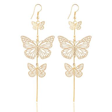 Damskie 1 Kolczyki wiszące Biżuteria Posrebrzany Pozłacane Stop Biżuteria Ślub Impreza Biżuteria kostiumowa