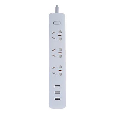 3 소켓 표준 플러그 원래 샤오 미 테크 3 USB 충전 포트는 미니 전원 스트립