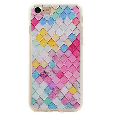 제품 iPhone 7 iPhone 7 Plus 케이스 커버 반투명 뒷면 커버 케이스 기하학 패턴 소프트 TPU 용 Apple 아이폰 7 플러스 아이폰 (7)