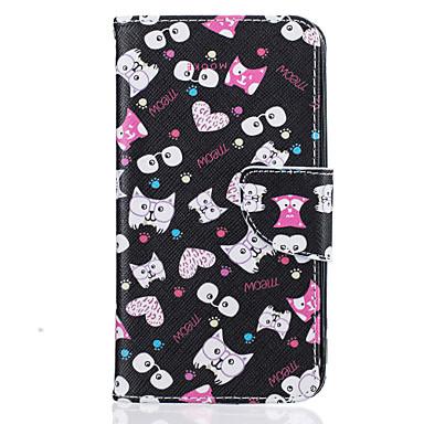케이스 제품 LG의 K8 LG LG K10 LG의 K7 카드 홀더 지갑 스탠드 패턴 전체 바디 케이스 고양이 하드 PU 가죽 용