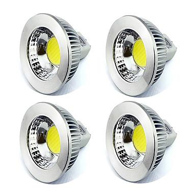 5W GU5.3(MR16) LED 스팟 조명 MR16 1 COB 450 lm 따뜻한 화이트 / 차가운 화이트 장식 V 4개