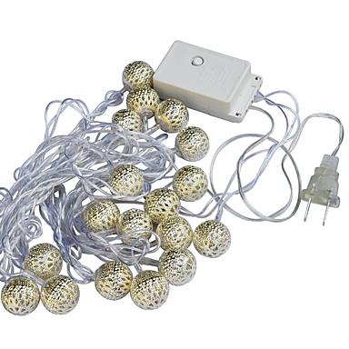 jiawen 20 led 5m meleg fehér ünnepi dekoráció lámpa fény (ac 110-220v)