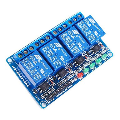 Moduł przekaźnika 5V Opto-Izolator 4-kanałowy wysokiego poziomu wyzwalania - niebieski