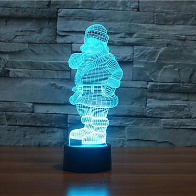 1 szt. Oświetlenie bożonarodzeniowe Lekka dekoracja Night Light Wielokoloroe Sensor Przysłonięcia Wodoodporne Zmieniająca Kolor