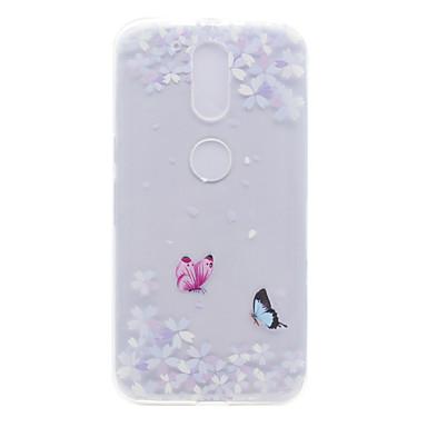케이스 제품 Motorola 투명 패턴 뒷면 커버 꽃장식 소프트 TPU 용 Moto G4 Plus