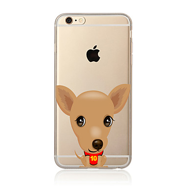 Case Kompatibilitás Apple iPhone X iPhone 8 Plus iPhone 7 iPhone 6 iPhone 5 tok Áttetsző Minta Hátlap Kutya Puha TPU mert iPhone X iPhone