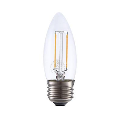 GMY® 1szt 200lm E26 / E27 Żarówka dekoracyjna LED B 2 Koraliki LED COB Przysłonięcia Ciepła biel