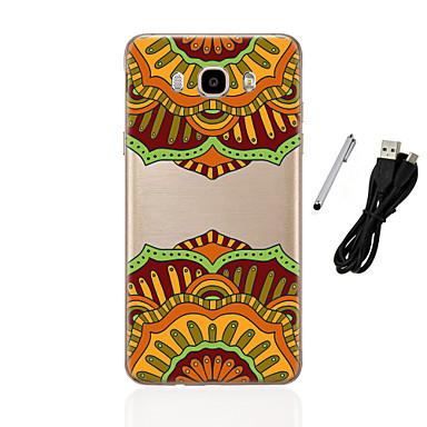 Case Kompatibilitás Samsung Galaxy J5 (2016) J3 (2016) Áttetsző Minta Fekete tok Mandala Puha TPU mert J5 (2016) J5 J3 (2016) J3 J1