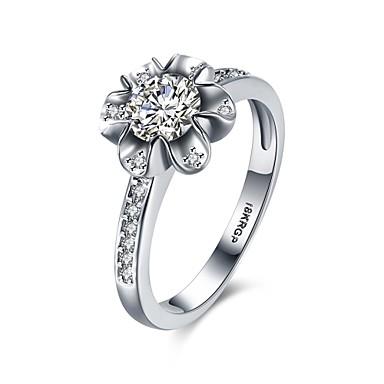 Női Gyűrű Eljegyzési gyűrű Luxus Szerelem Szív Cirkonium Réz Hamis gyémánt Ékszerek Esküvő Parti Eljegyzés Napi Hétköznapi
