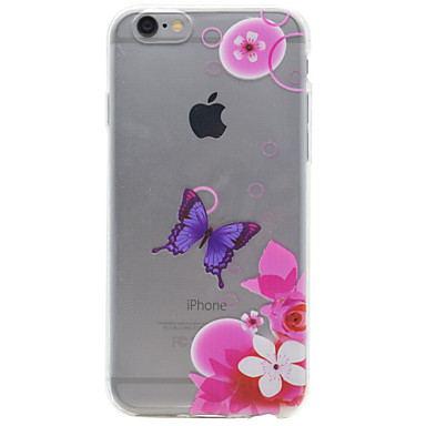 TPU Material Purple Butterfly Pattern Painting Phone Soft Shell for iPhone 7 Plus 7 6s Plus 6 Plus 6S 6 SE 5s 5