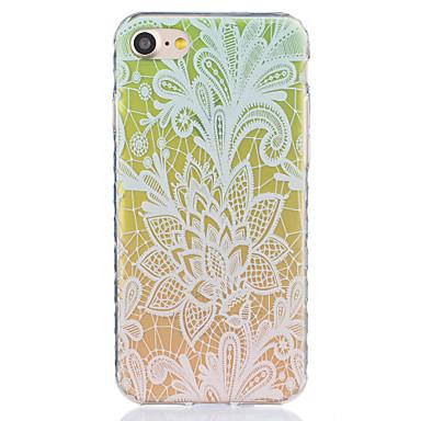 용 아이폰7케이스 / 아이폰6케이스 / 아이폰5케이스 투명 / 패턴 케이스 뒷면 커버 케이스 레이스 디자인 소프트 TPU Apple아이폰 7 플러스 / 아이폰 (7) / iPhone 6s Plus/6 Plus / iPhone 6s/6 /