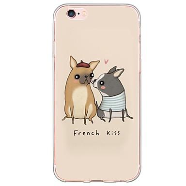 Mert iPhone 7 tok / iPhone 6 tok / iPhone 5 tok Ultra-vékeny / Áttetsző Case Hátlap Case Kutya Puha TPU AppleiPhone 7 Plus / iPhone 7 /