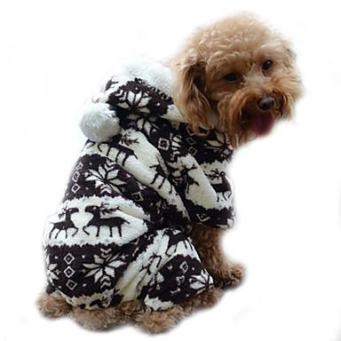강아지 후드 점프 수트 파자마 강아지 의류 순록 그레이 커피 블루 핑크 코르덴 코스츔 애완 동물 남성용 여성용 귀여운 따뜻함 유지
