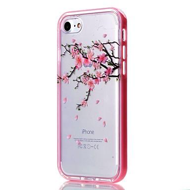용 아이폰7케이스 / 아이폰6케이스 / 아이폰5케이스 투명 / 패턴 케이스 뒷면 커버 케이스 꽃장식 소프트 TPU Apple아이폰 7 플러스 / 아이폰 (7) / iPhone 6s Plus/6 Plus / iPhone 6s/6 / iPhone