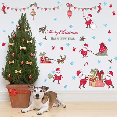 패션 크리스마스 휴일 벽 스티커 플레인 월스티커 거울 벽스티커 데코레이티브 월 스티커 홈 장식 벽 데칼 벽 유리 / 욕실