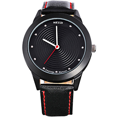Men's Fashion Quartz Casual Watch Genuine Leather Belt Round Alloy Dial Watch Cool Watch Unique Watch Sport Watch