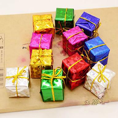 12db karácsonyfa tartozékok termékek lézer kis ajándékcsomagot hatféle szín