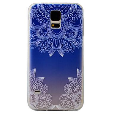 A samsung galaxis s7 s6 tokburka kék színátmenet virágmintás festmény szuper szoft tpu anyag