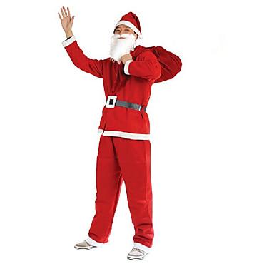 1db karácsonyi ruha 5 darab, nem szőtt ruhát, hogy a felnőttek végre jelmezek Mikulás ruhák kellékek