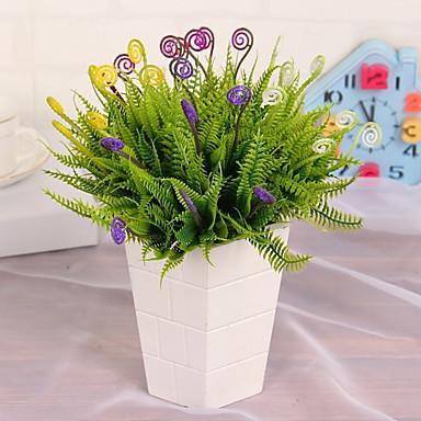 Művirágok 1pcs Ág Rusztikus Stílus Növények Asztali virág