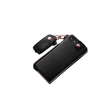 용 아이폰7케이스 / 아이폰7플러스 케이스 충격방지 케이스 뒷면 커버 케이스 단색 하드 천연 가죽 Apple 아이폰 7 플러스 / 아이폰 (7)