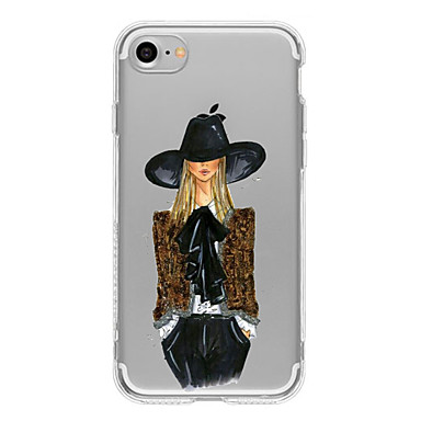 Case Kompatibilitás Apple iPhone X iPhone 8 Plus iPhone 7 iPhone 7 Plus iPhone 6 Minta Hátlap Szexi lány Puha TPU mert iPhone X iPhone 8