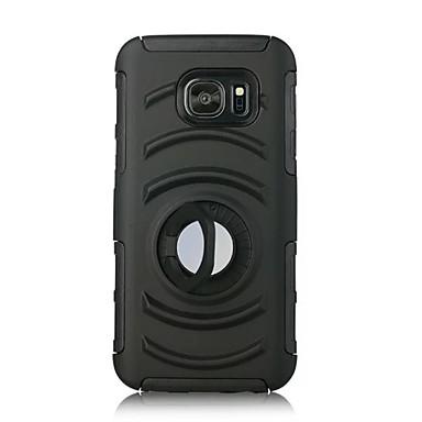 Case Kompatibilitás Samsung Galaxy S7 edge S7 Tartó gyűrű Hátlap Tömör szín Kemény PC mert S7 edge S7
