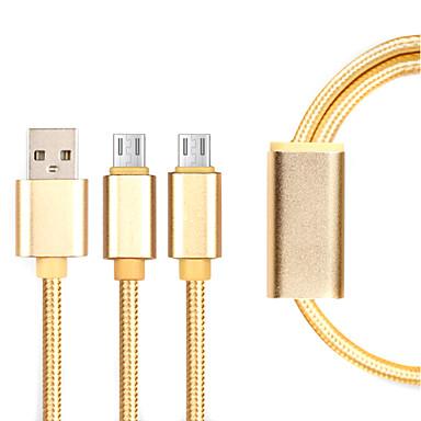 마이크로 USB 3.0 짜임 케이블 제품 Samsung / Huawei / Sony / Nokia / HTC / Motorola / LG / Lenovo / Xiaomi 14*5*1 cm 나일론
