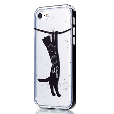 Mert iPhone 7 tok / iPhone 6 tok / iPhone 5 tok Átlátszó / Minta Case Hátlap Case Cica Puha TPU AppleiPhone 7 Plus / iPhone 7 / iPhone 6s
